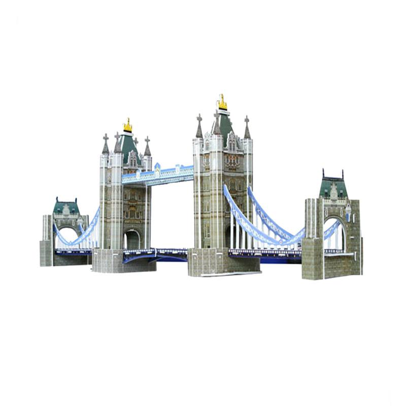 经典建筑立体拼图模型伦敦塔桥237块