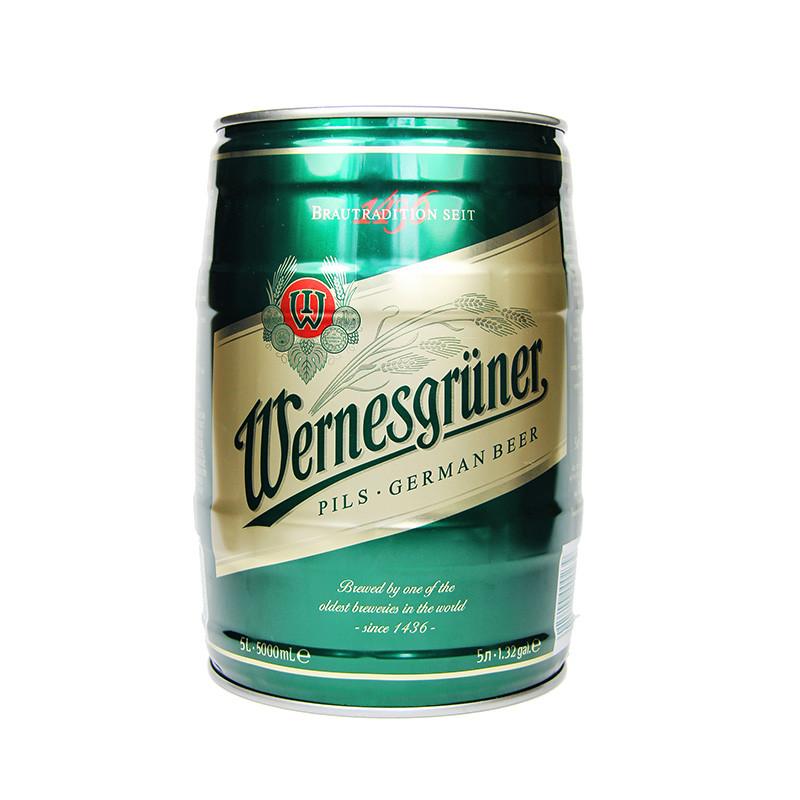 德国进口 万奈仕皮尔森啤酒5l