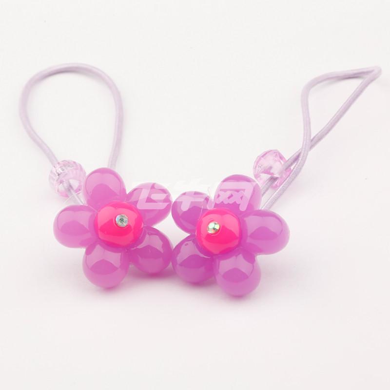 大道自然 儿童可爱糖果色公主发圈 f021 紫罗兰