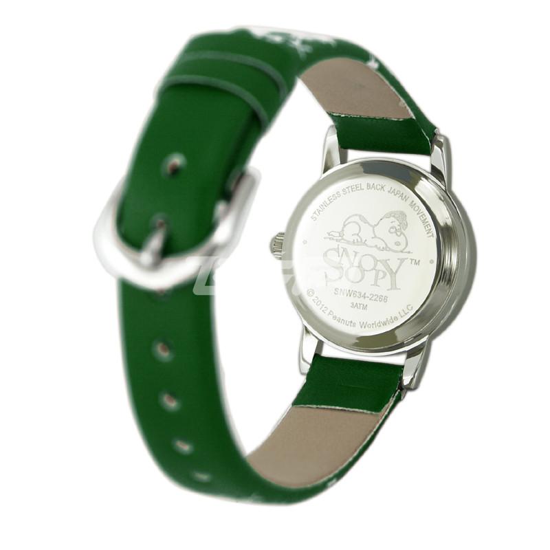 snoopy史努比 中学生手表 可爱女生时尚女孩防水表 snw634 绿色 l