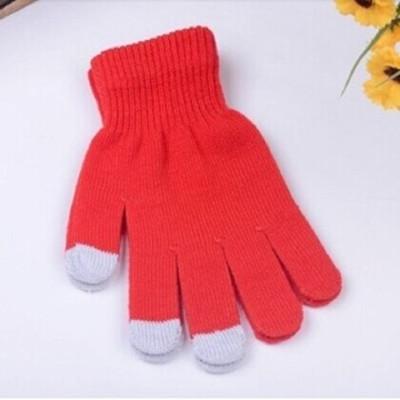 秋冬可爱触摸屏手套男女保暖触屏手套点屏
