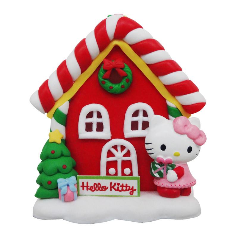 原厂授权的可爱的圣诞凯蒂猫糖果屋桌饰限量发行   商品尺寸: 长约6.