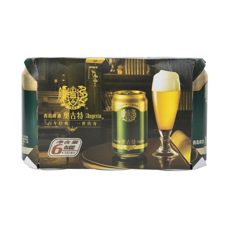 青岛奥古特啤酒 330ml*6罐/组