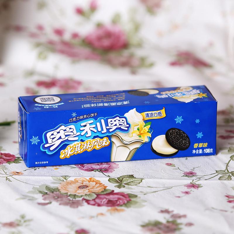 奥利奥冰淇淋夹心饼干(香草味)单卷装 106克/包