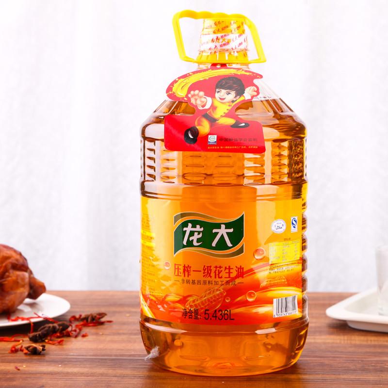 龙大压榨一级花生油5.436l/瓶