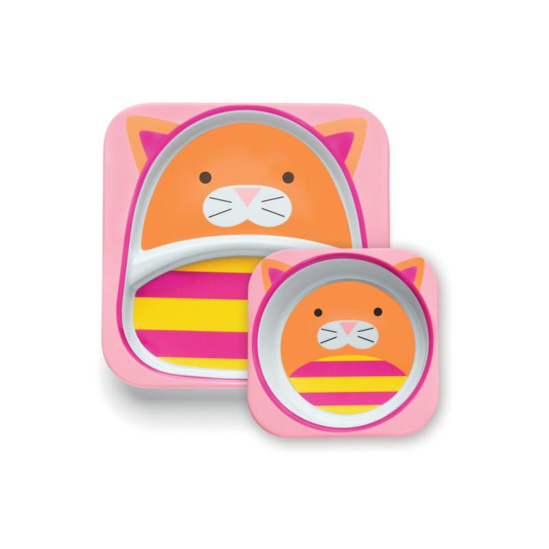skip hop zoo可爱动物园餐具组合—小猫 100002300