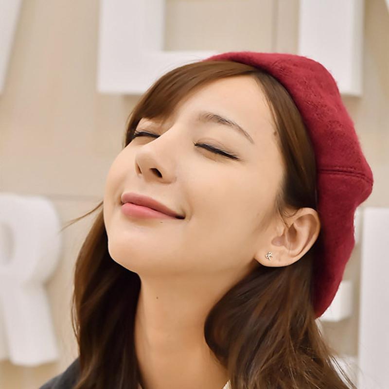 空气刘海带蓓蕾帽子分享展示