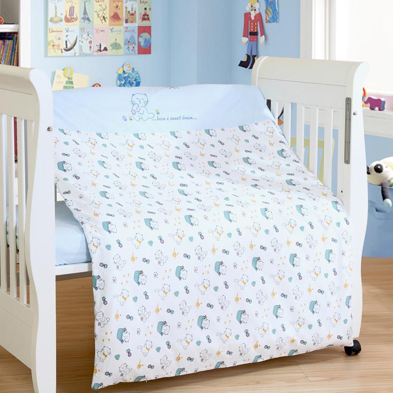 笑巴喜 儿童被子婴儿棉被宝宝全棉被子 双芯幼儿园被子 四季可用