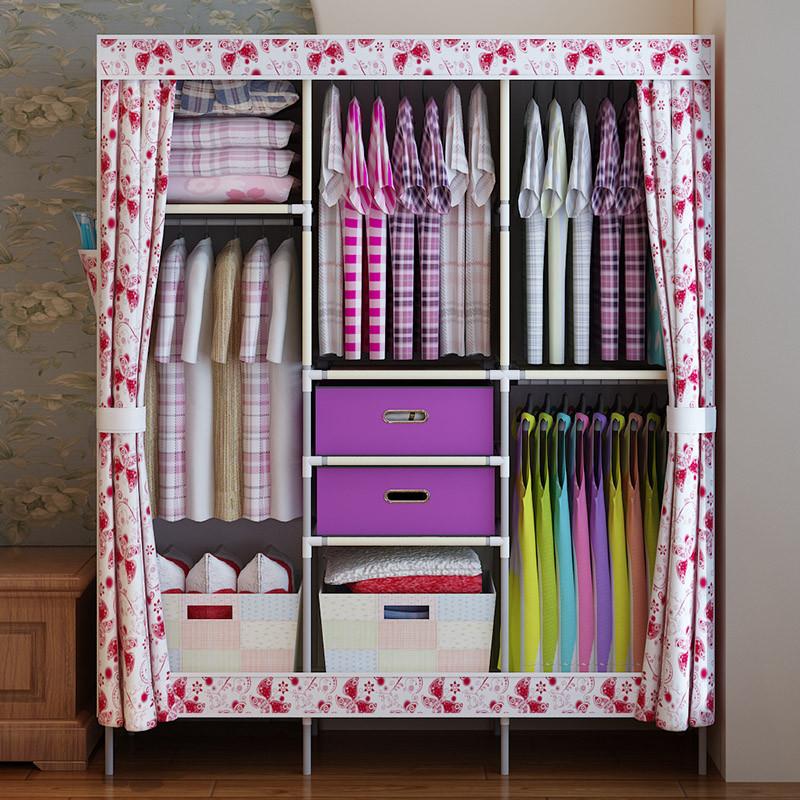 折叠木衣柜组装步骤图解