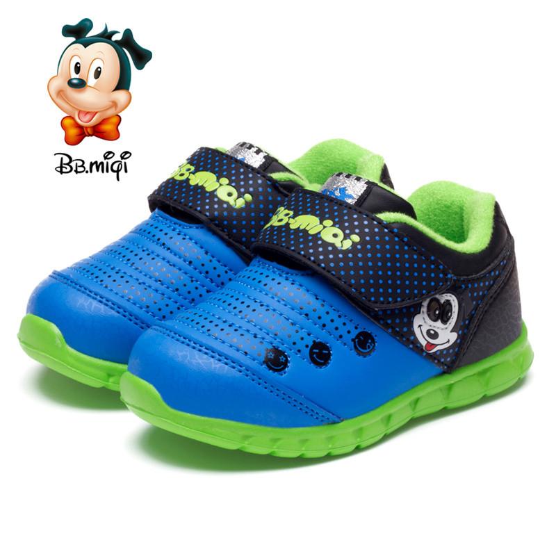 开心米奇 开心米奇宝宝鞋子2015冬季新款运动鞋闪灯