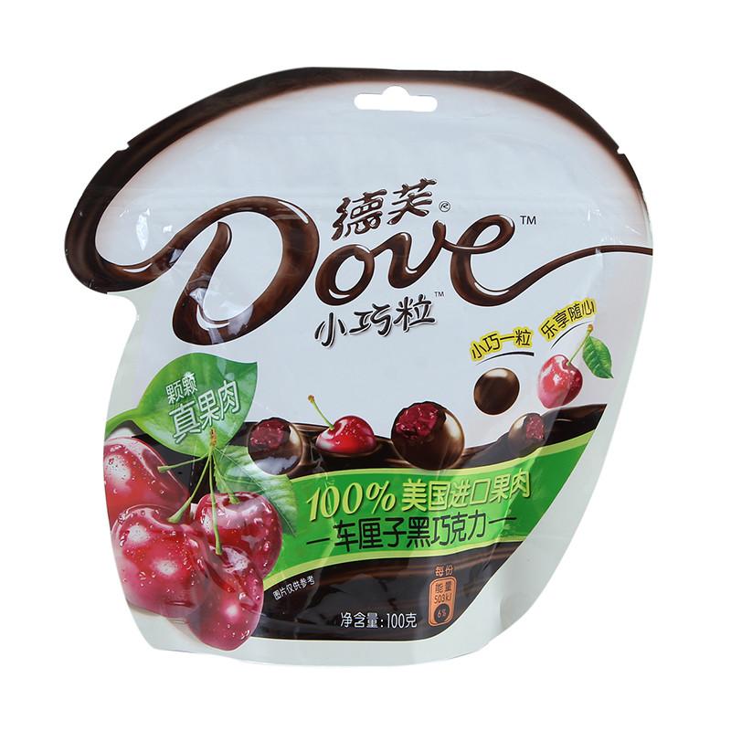 德芙小巧粒车厘子黑巧克力100克/袋