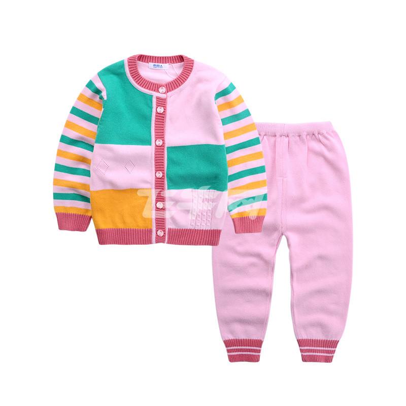 南极人 儿童休闲毛衣套装 n7m5t80193 03 粉红 80