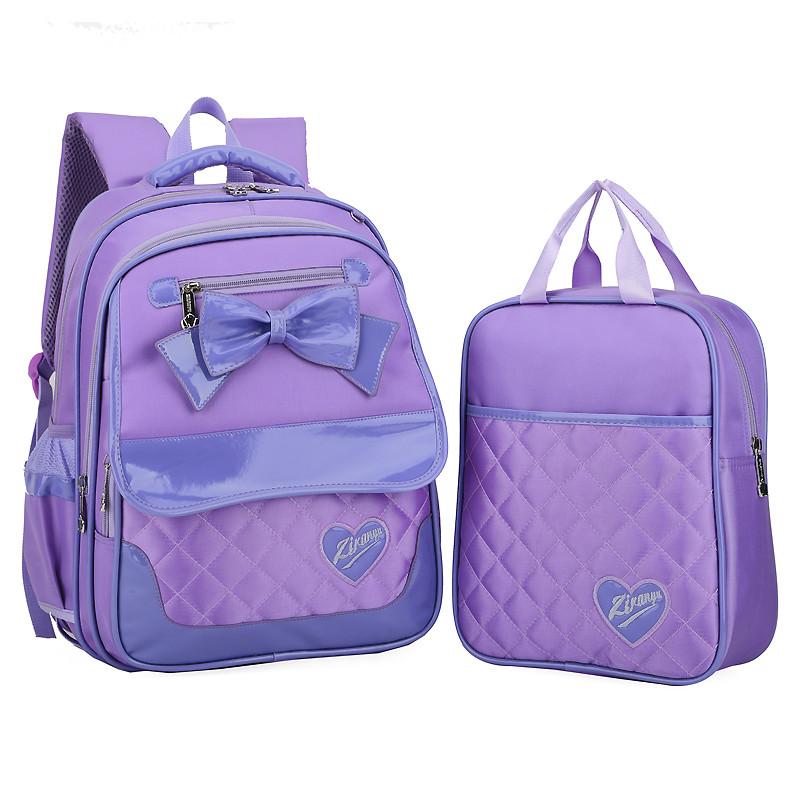 自然鱼 小学生书包1-3-4-6年级女生双肩背包子母包儿童背包可爱公主