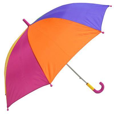 大道自然 2016新款可爱儿童安全伞长柄伞半半自动伞卡通伞晴雨伞彩虹