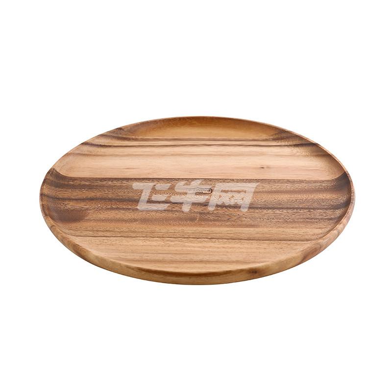 泰国进口相思木圆盘实木餐盘
