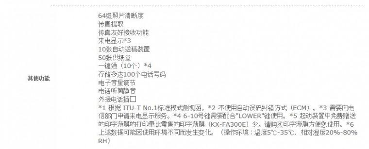 松下(Panasonic)KX-FP7006CN 普通纸传真机(白色)