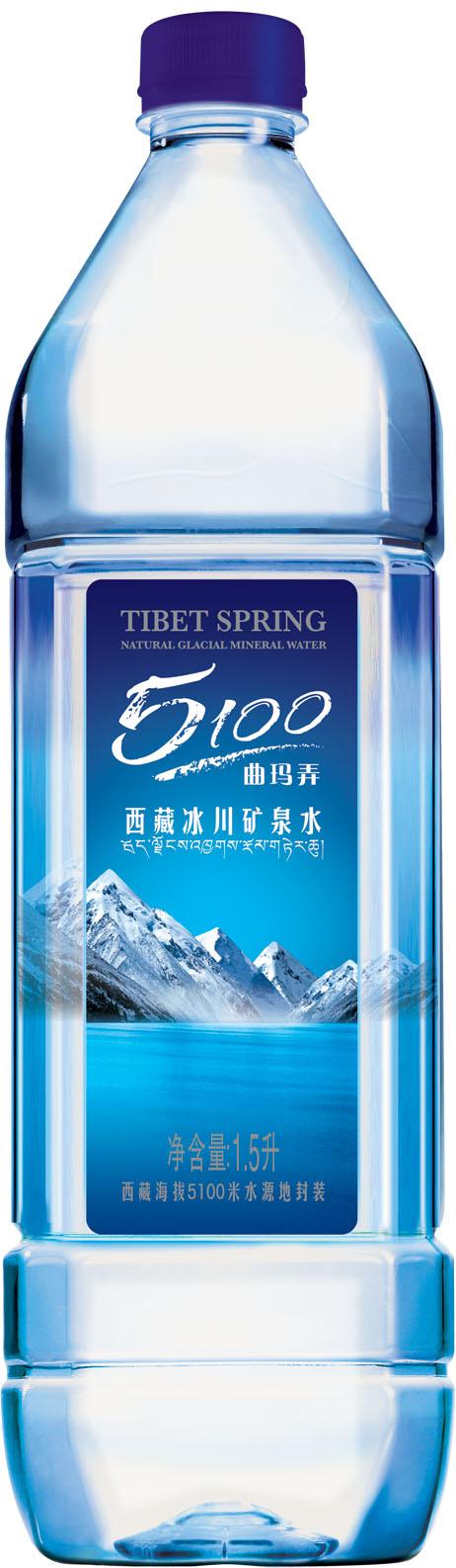 西藏冰川矿泉水 1.5l*6瓶/组