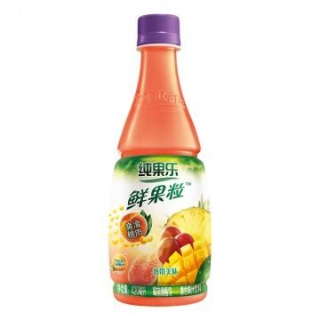 纯果乐鲜果粒热带美味420ml/瓶