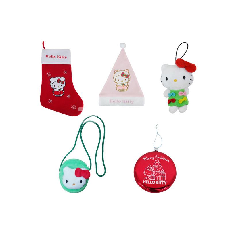 凯蒂猫圣诞系列大礼包(另送凯蒂猫祝福书签1份) 粉绿色