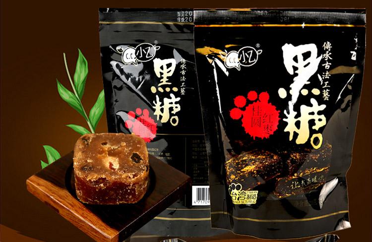 小乙 黑糖桂圆红枣 210g 7枚入 台湾地区进口