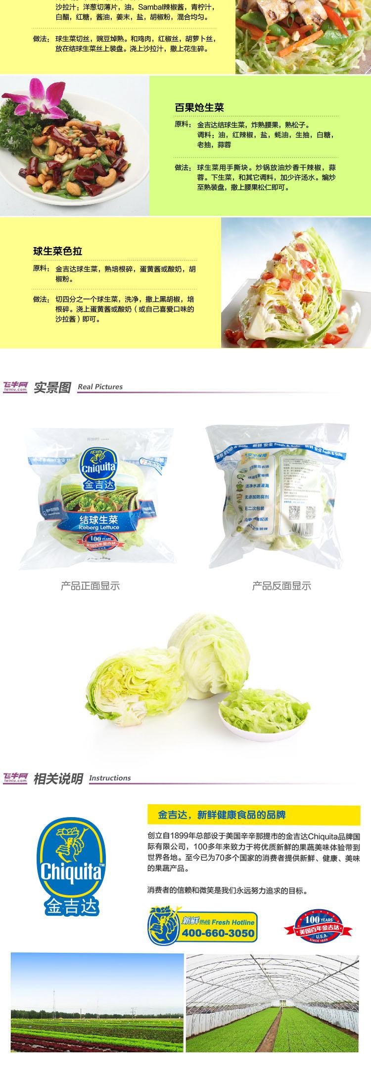 金吉达结球生菜300g/袋新品